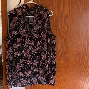 Torrid Floral Sleeveless Blouse